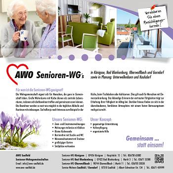 AWO Kreisverband Saalfeld-Rudolstadt e.V. – Senioren-Wg's