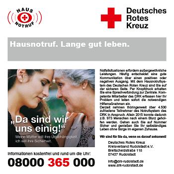 DRK-Kreisverband Rudolstadt e.V. – Hausnotruf